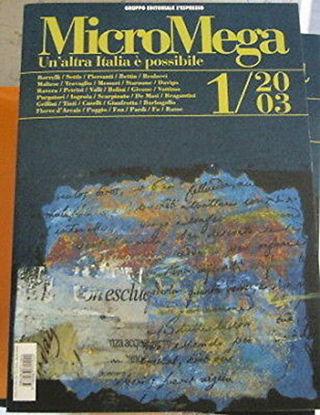Immagine di MICROMEGA 1/2003 UN`ALTRA ITALIA E` POSSIBILE