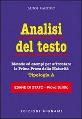 Immagine di ANALISI DEL TESTO  TIPOLOGIA A  ESAME DI STATO PROVA SCRITTA