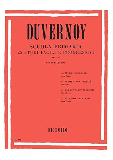 Immagine di DUVERNOY: SCUOLA PRIMARIA, OP. 176  25 STUDI FACILI E PROGRESSIVI