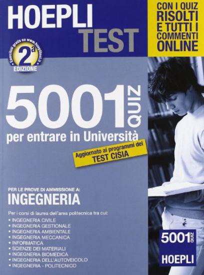 Immagine di HOEPLI TEST - 5001 QUIZ DI INGEGNERIA