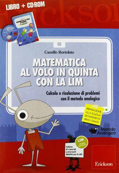 Immagine di MATEMATICA AL VOLO IN QUINTA CON LA LIM+CDROM - VOLUME 5