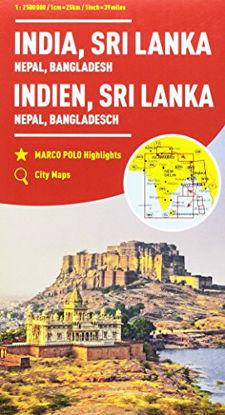 Immagine di INDIA, NEPAL, BUTHAN, BANGLADESH, SRI LANKA 1:2.500.000