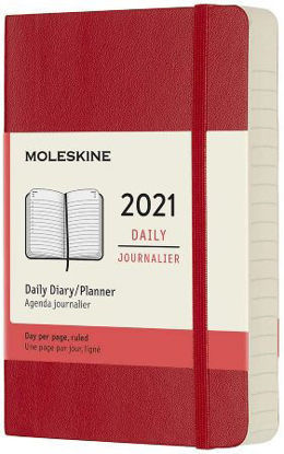 Immagine di 12 MONTHS, DAILY. POCKET, SOFT COVER, SCARLET RED