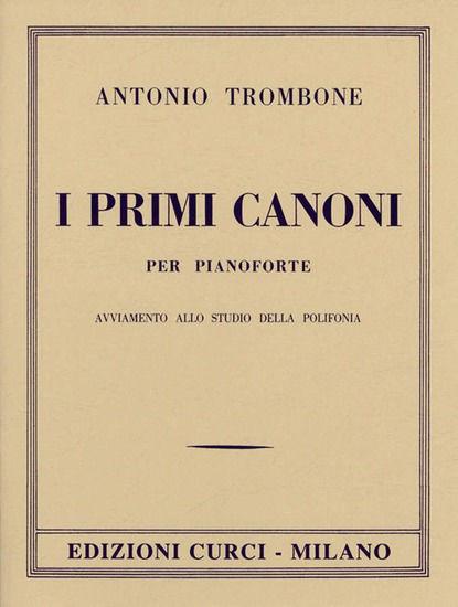 Immagine di PRIMI CANONI PER PIANOFORTE
