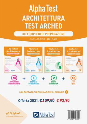 Immagine di ALPHA TEST. ARCHITETTURA. KIT COMPLETO DI PREPARAZIONE 2021 2022 ( 4 VOLUMI)