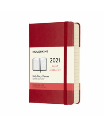 Immagine di 12 MONTHS, DAILY. POCKET, HARD COVER, SCARLET RED