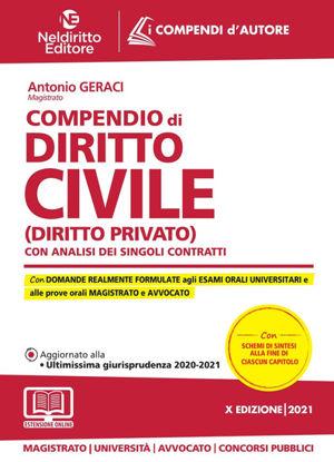 Immagine di COMPENDIO DI DIRITTO CIVILE (DIRITTO PRIVATO). CON ANALISI DEI SINGOLI CONTRATTI 2021