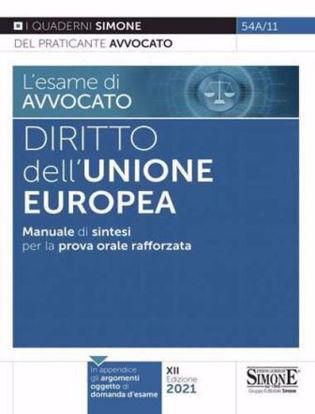 Immagine di DIRITTO DELL'UNIONE EUROPEA. MANUALE DI SINTESI PER LA PROVA ORALE RAFFORZATA 2021