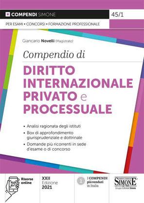 Immagine di COMPENDIO DI DIRITTO INTERNAZIONALE PRIVATO E PROCESSUALE. 2021