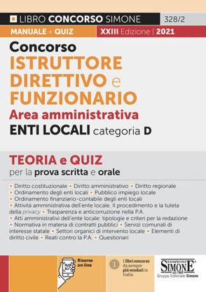 Immagine di CONCORSO ISTRUTTORE DIRETTIVO E FUNZIONARIO NEGLI ENTI LOCALI.   ENTI LOCALI. 2021
