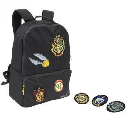 Immagine di ZAINO AMERICANO HARRY POTTER PATCH INTERCAMBIABILI