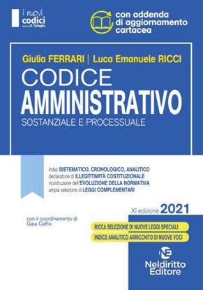 Immagine di CODICE AMMINISTRATIVO. SOSTANZIALE E PROCESSUALE 2021
