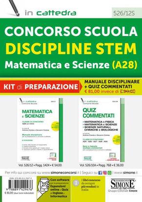Immagine di CONCORSO SCUOLA DISCIPLINE STEM MATEMATICA E SCIENZE (A28). KIT DI PREPARAZIONE MANUALE + QUIZ