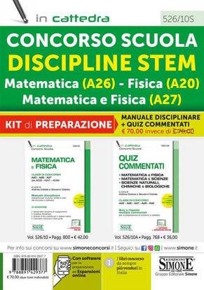Immagine di CONCORSO SCUOLA DISCIPLINE STEM MATEMATICA (A26) FISICA (A20) MATEMATICA E FISICA (A27). KIT 2 VOL