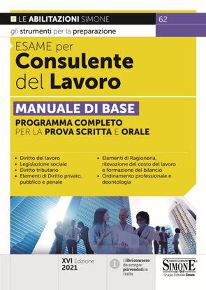 Immagine di ESAME PER CONSULENTE DEL LAVORO MANUALE DI BASE 2021