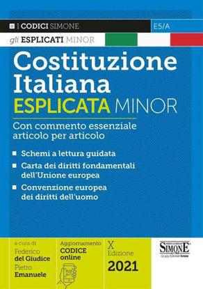 Immagine di COSTITUZIONE ITALIANA ESPLICATA MINOR. CON COMMENTO ESSENZIALE ARTICOLO PER ARTICOLO