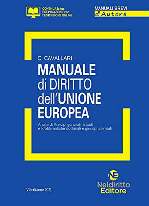Immagine di MANUALE DI DIRITTO DELL`UNIONE EUROPEA