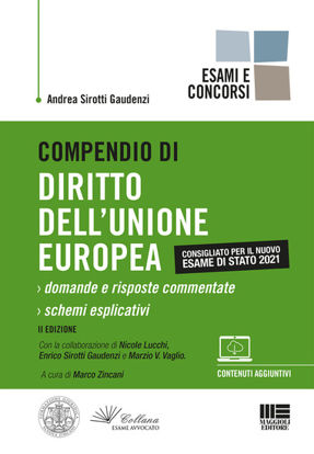 Immagine di COMPENDIO DI DIRITTO DELL`UNIONE EUROPEA. DOMANDE E RISPOSTE COMMENTATE. SCHEMI ESPLICATIVI
