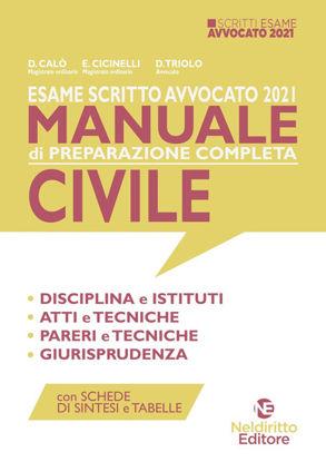 Immagine di ESAME SCRITTO AVVOCATO 2021. MANUALE DI PREPARAZIONE COMPLETA CIVILE.