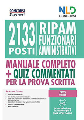 Immagine di CONCORSO 2133 FUNZIONARI AMMINISTRATIVI RIPAM: MANUALE + QUIZ PER LA PROVA PRESELETTIVA