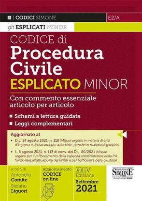 Immagine di CODICE DI PROCEDURA CIVILE ESPLICATO MINOR - VOLUME E2/A